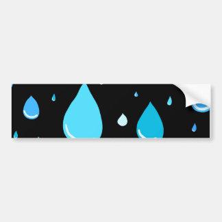Rain drops bumper sticker