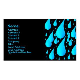 Rain Drops Business Card