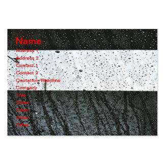 Rain drops business card template