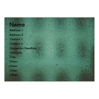 Rain drops business card templates