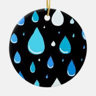 Rain drops christmas ornament