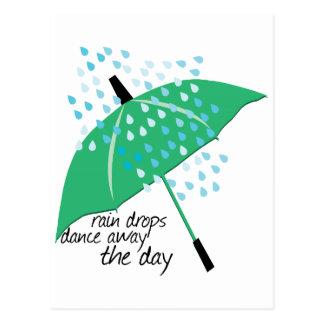 Rain Drops Dance Post Card