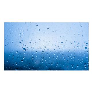 Rain drops on a window glass business card