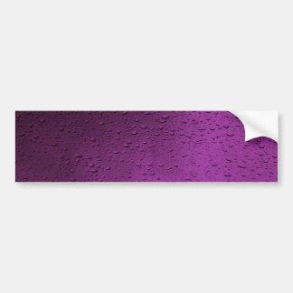 rain-drops-on-flowerpetal bumper sticker