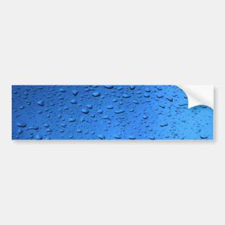 Rain Drops on Glass blue Bumper Sticker