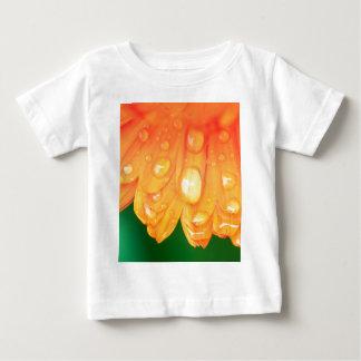 Rain drops on petals baby T-Shirt