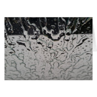 Rain drops on the window greeting cards