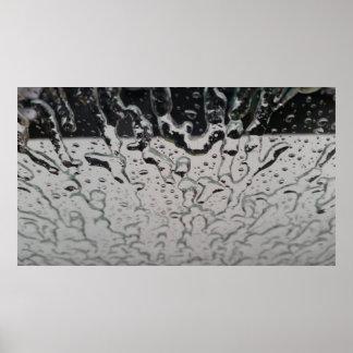 Rain drops on the window poster