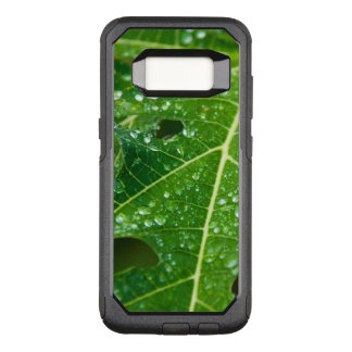Rain Drops on Tropical Green Papaya Leaf OtterBox Commuter Samsung Galaxy S8 Case