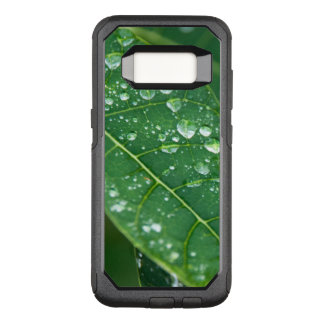 Rain Drops on Tropical Papaya Leaf OtterBox Commuter Samsung Galaxy S8 Case
