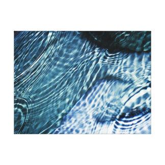 Rain drops on water canvas print