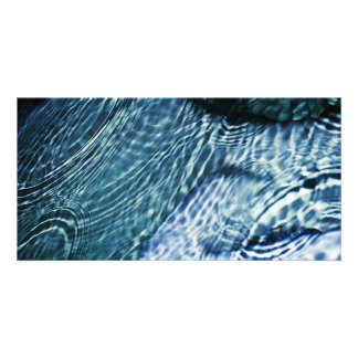 Rain drops on water photo cards