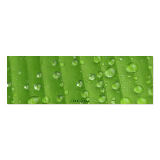 rain drops pack of skinny business cards