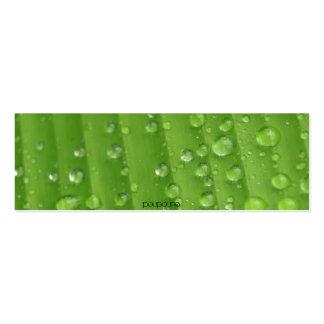 rain drops pack of skinny business cards