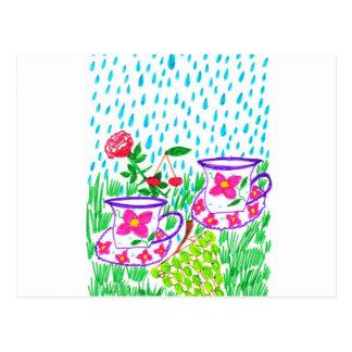 rain-drops post cards