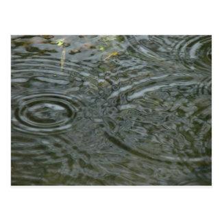 rain drops post cards
