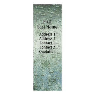 Rain Drops profile card Pack Of Skinny Business Cards