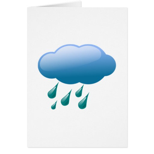 Rain Drops with Cloud Greeting Card