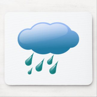 Rain Drops with Cloud Mouse Pads