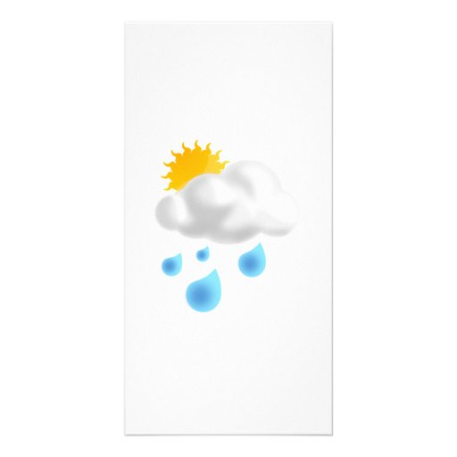 Rain Drops with Cloud Picture Card