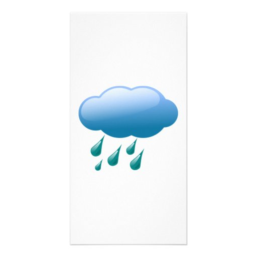 Rain Drops with Cloud Customized Photo Card