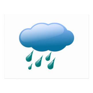 Rain Drops with Cloud Postcards