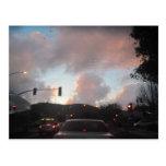Rain Falliing at Sunset in San Luis Obispo, CA Post Card