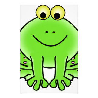 Rain forest Green Frog Stationery