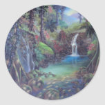 Rain Forest Landscape River Waterfalls Art Stickers