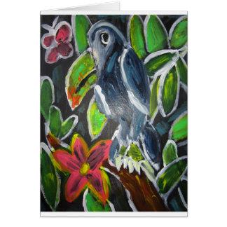 Rain  Forest  Toucan art Card