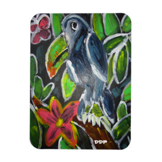 Rain Forest  Toucan art Magnet