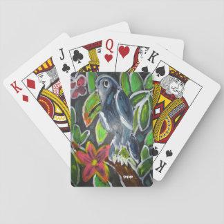 Rain forest  toucan art poker deck