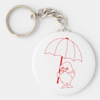 Rain Go Away Basic Round Button Key Ring