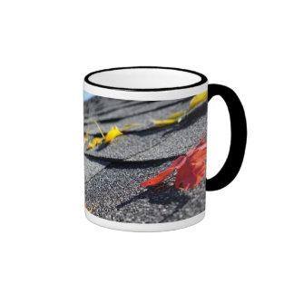 Rain Gutter Full Of Autumn Leaves Coffee Mugs