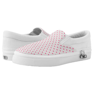 Rain hearts slip on shoes