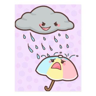 Rain Hurts Postcard