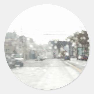 Rain In Between My View Round Sticker