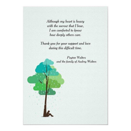 Rain in my Heart Bereavement Thank You Card