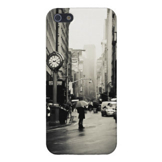 Rain in New York City - Vintage Style Case For The iPhone 5