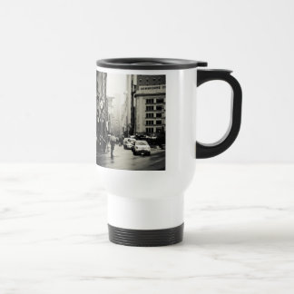 Rain in New York City - Vintage Style Coffee Mugs