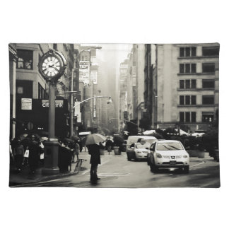 Rain in New York City - Vintage Style Placemat