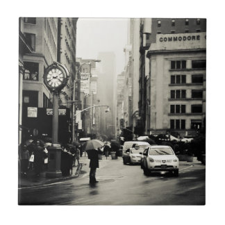 Rain in New York City - Vintage Style Tile