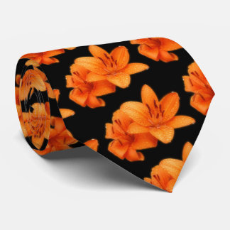 Rain-Kissed Orange Asiatic Tiger Lilies Tie