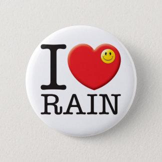 Rain Love 6 Cm Round Badge