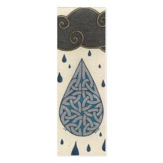Rain mini-bookmark business card template