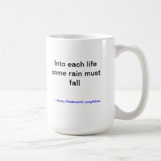 Rain must fall mug from Longfellow