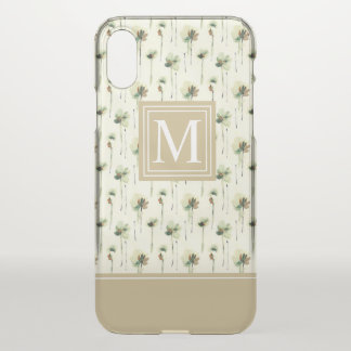 Rain of White Flowers Monogram | iPhone X Case