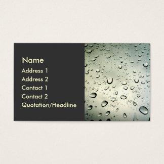 Rain On My Window Business Card