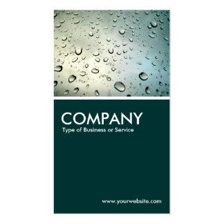 Rain on my Window - Dark Green Business Card