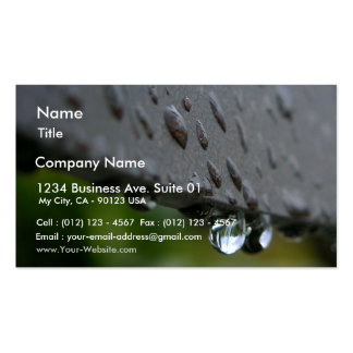 Rain Or Dew Drops Business Card Templates